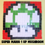 How to Make a Mosaic Super Mario 1-up Mushroom Pixelated Picture from Tiles