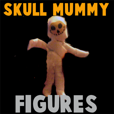 How to Make a Halloween Skull Mummy Figure