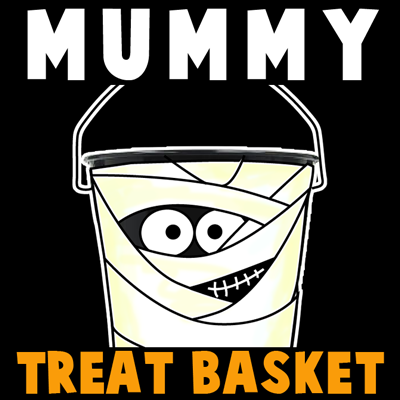 How to make a Mummy Trick or Treat Basket