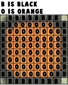 Printable color template for Mario blocks