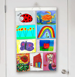 Ideas For Displaying Your Kids Artwork So You Can See