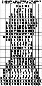 Printable black & white Template for Princess Daisy