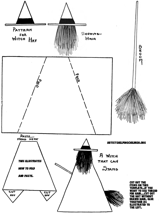 Printable Template For Standing Witches