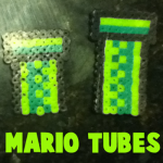 How to Make Warp Pipes from Super Mario Bros. with Perler Beads