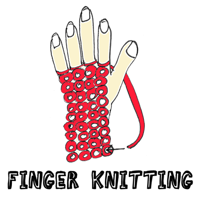 how to connect finger knitting