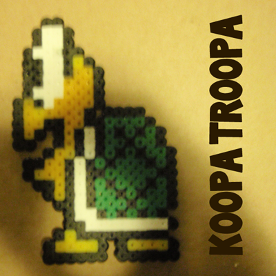 How to Make a Koopa Troopa from Super Mario Bros with Perler Beads