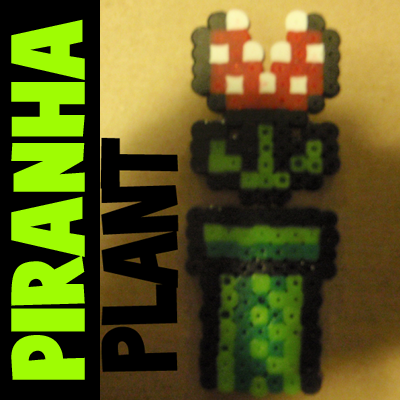 How to Make a Piranha Plant from Super Mario Bros with Perler Beads