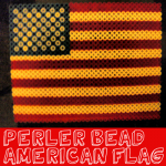 How to Make a Perler Bead American Flag for Veterans Day