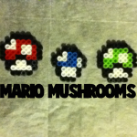 How to Make Mario Mushrooms from Super Mario Bros. with Perler Beads