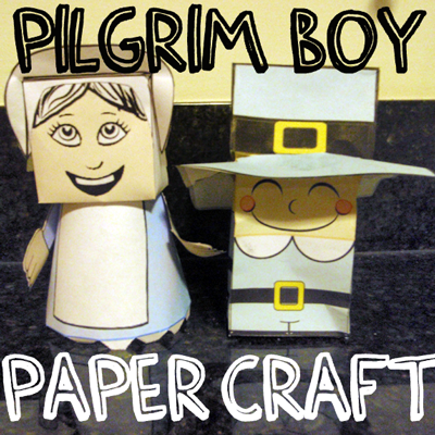 How to Make a Pilgrim Boy out of Paper