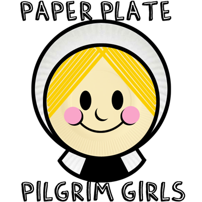 How to Make a Girl Paper Plate Pilgrim for Thanksgiving