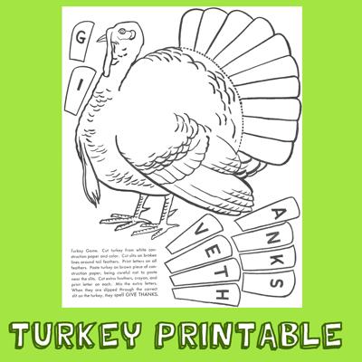 How to Play the Turkey Game – Turkey Printable