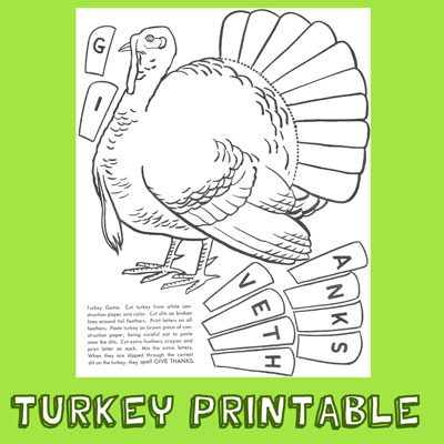Finished Turkey Printable
