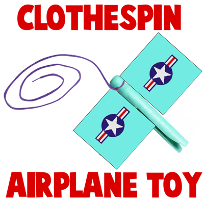 Finished Clothespin Airplane Toy