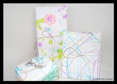 Idea for Wrapping Gifts - Your Kids' Artwork