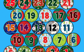Printable template for advent calendar