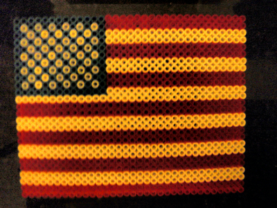 Finished American Flag for Veterans Day