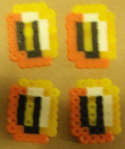 Finished Mario Coins Craft