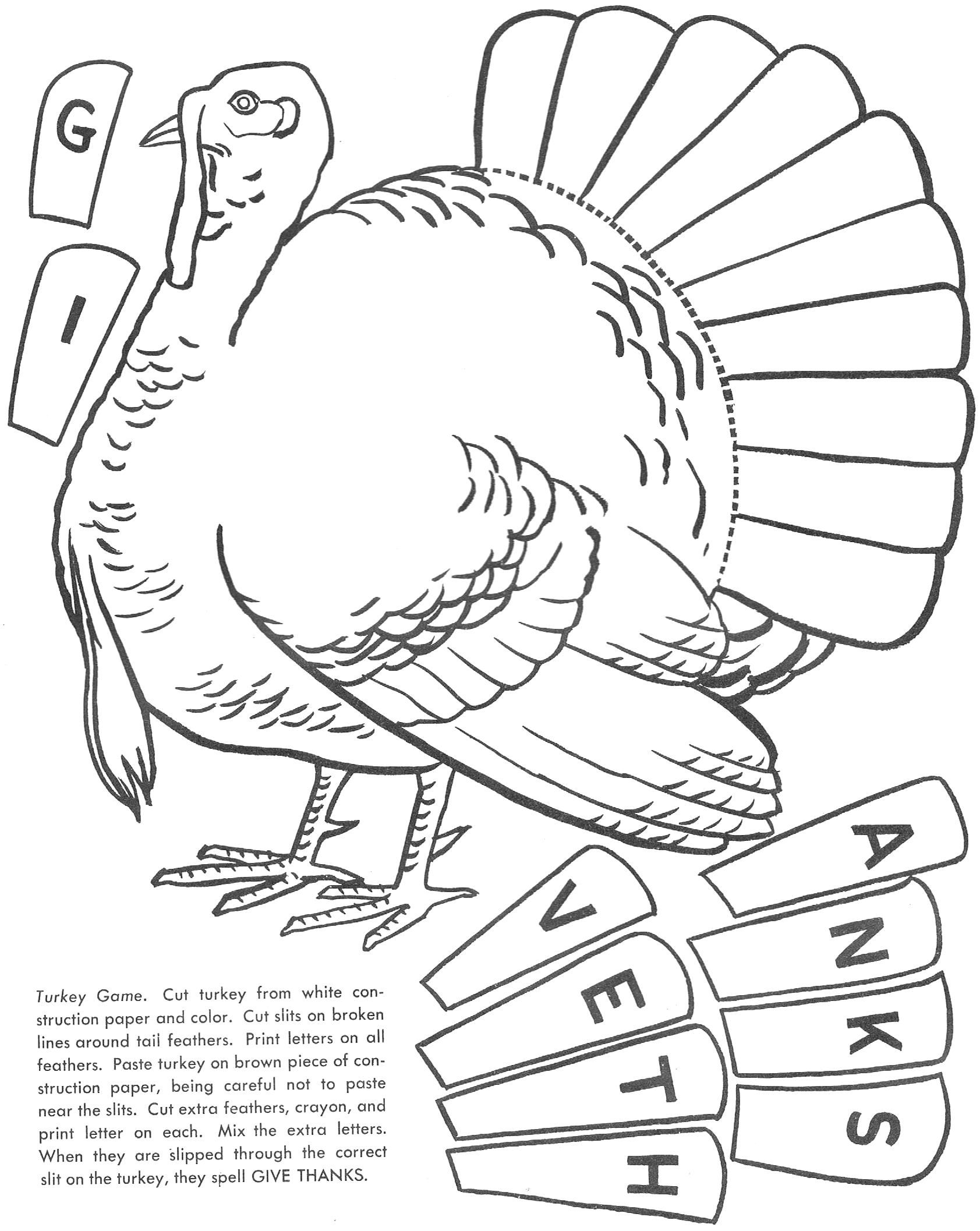 How To Play The Turkey Game Turkey Printable Kids Crafts