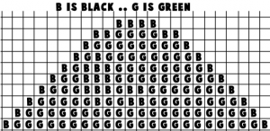 Printable black & white template for the Hills from Mario