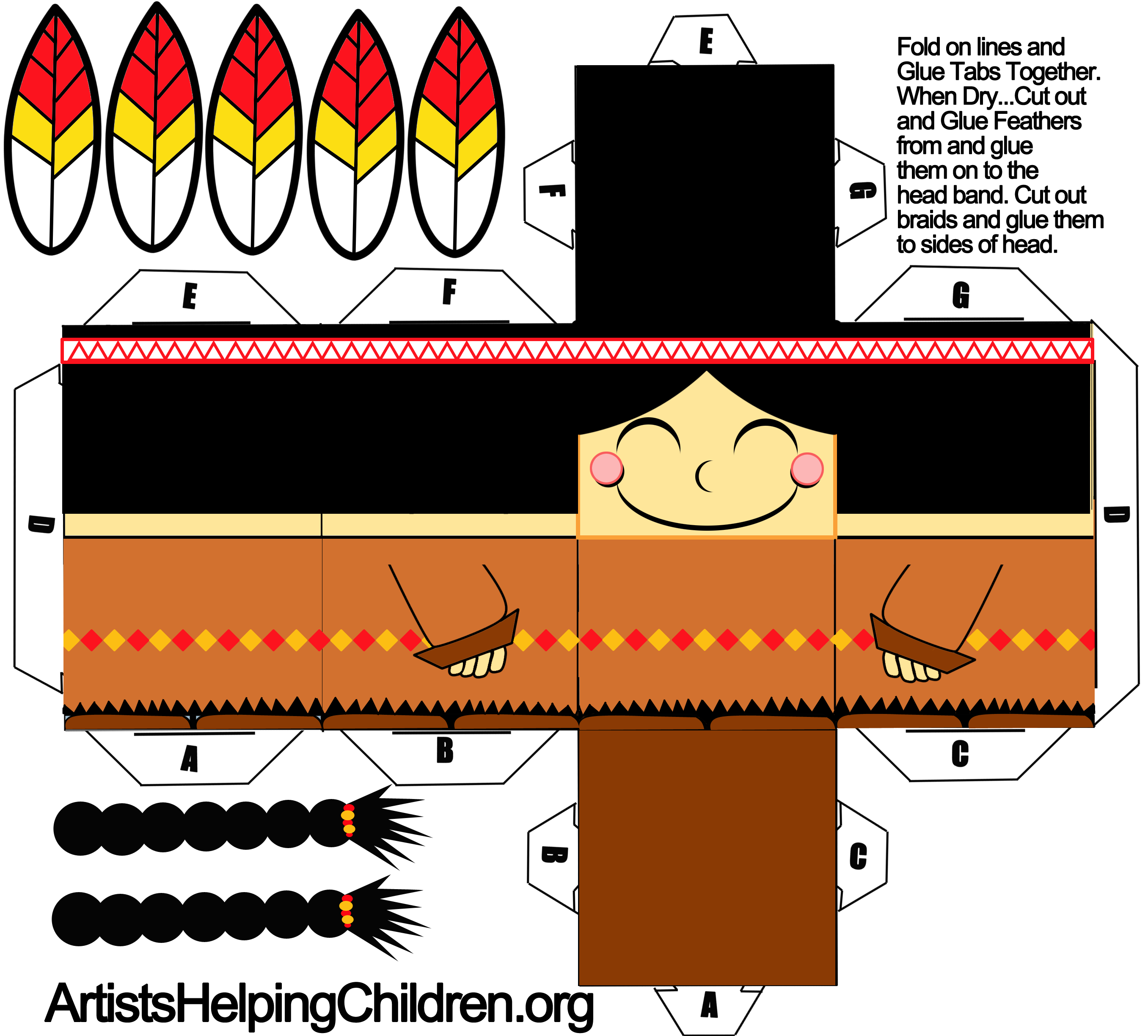graphic regarding Printable Foldables called How in the direction of Create a Indian Woman out of Paper with Printable
