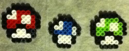 Finished Mario Mushroom Perler Bead Craft