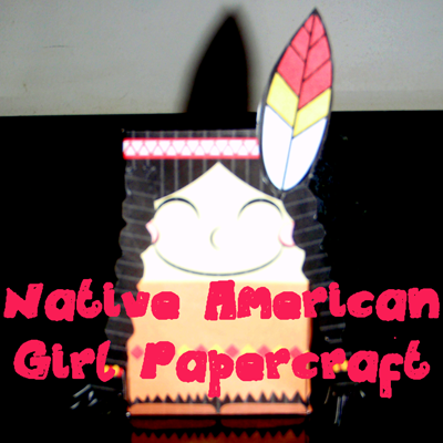 How to Make a Indian Girl out of Paper