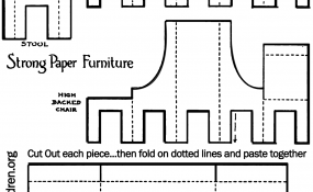 All furniture printable black & white template