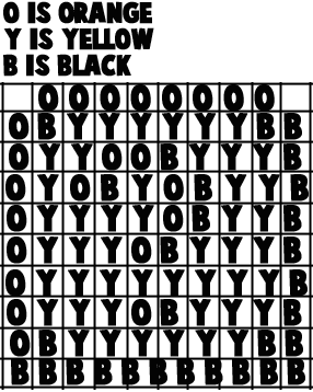 Printable black & white template for Question Mark Boxes craft