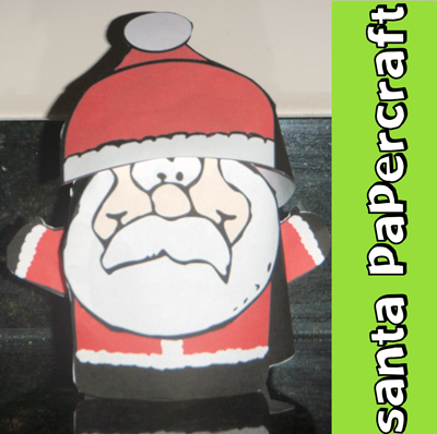 How to Make a Stand-up Santa Claus Paper Craft