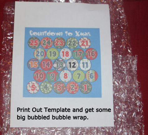 Print out template and get some big bubbled bubble wrap.