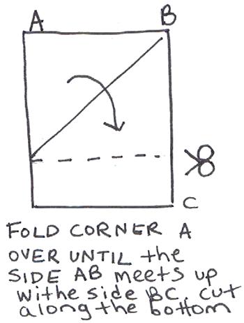 This is how you can take a rectangular piece of paper and make it a square.