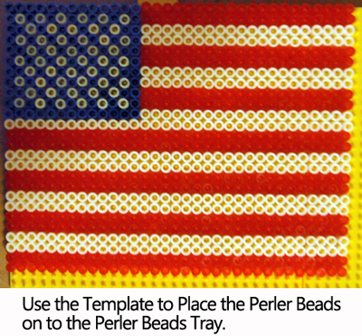 Use the template to place the Perler Beads on to the Perler Beads Tray.