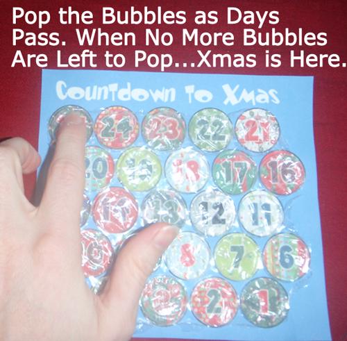 Pop the bubbles as days pass.