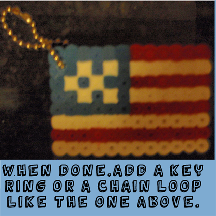 When done add a key ring or a chain loop like the one above.