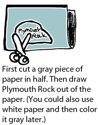 draw Plymouth Rock out of the paper.