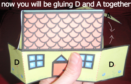 Now, glue D and A together.