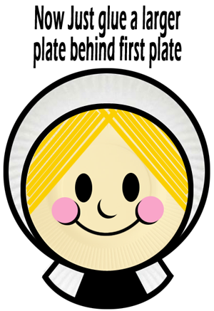 Now just glue a larger plate behind the first plate.