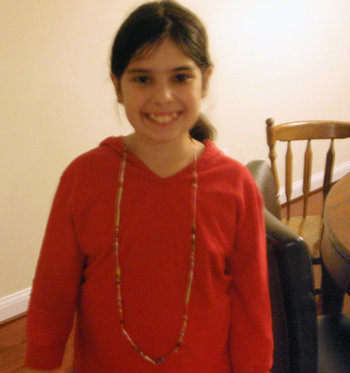 Finished Paper Bead Necklace