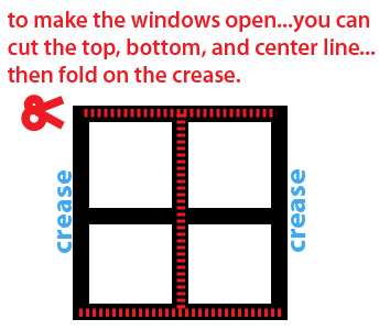 To make the windows open...