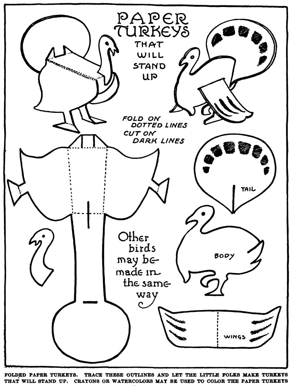 How to Make Stand-up Paper Turkeys - Kids Crafts ...