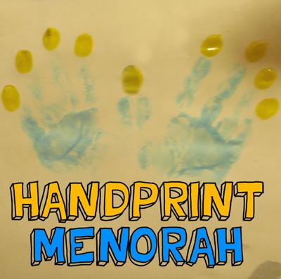 How to Make a Handprint Hanukkah Menorah