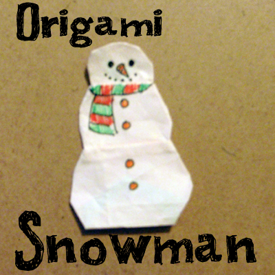 How to Make an Origami Snowman