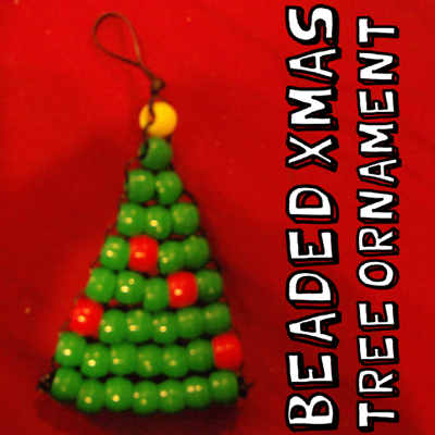 How to Make a Pony Bead Christmas Tree Ornament