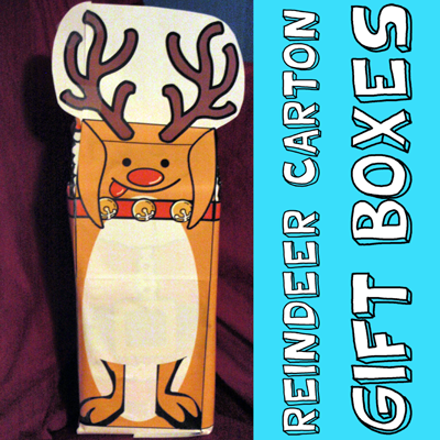 How to Make a Reindeer Milk Carton Gift Box