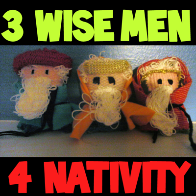 How to Weave the 3 Wise Men for a Nativity Scene