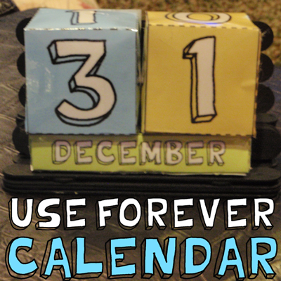 How to Make a Paper Box Perpetual Calendar