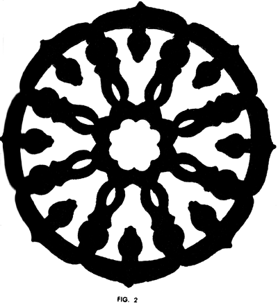 After cutting, your Ship's Wheel design should turn out as in Fig. 2.