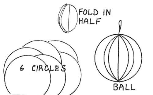 Paper Circle Ball Ornaments
