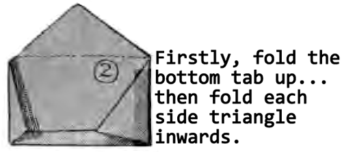fold the bottom tab up